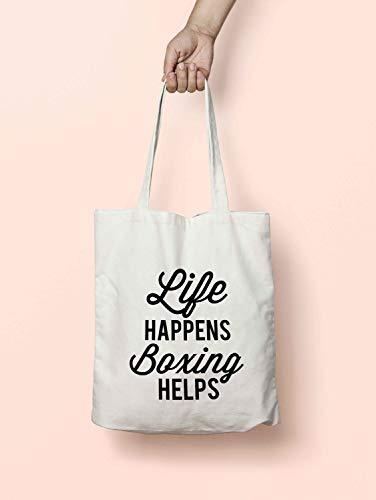 Life Happens K2532 Boxhandtasche, lange Griffe