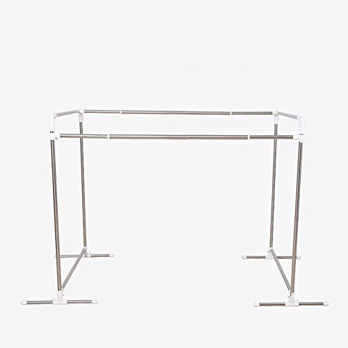Multi-función de la rejilla de secado/telescópica/acero inoxidable/bastidores modulares/bastidores de suelo del balcón/colcha exterior,Silver