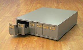 Cabinet, Microscope Slide Storage w/6 drawers (Tan) ()