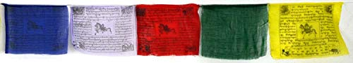 BUDDHAFIGUREN/Billy Held Buddhistische Gebetsfahnen 6 m Länge, 25 Blatt - jede Fahne hat eine Größe von 22 X 18 cm, Buddha Dekoration