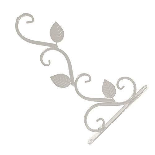 strimusimak Macetero colgante para macetas de metal, para colgar en la pared, para decoración de jardín, balcón, color blanco