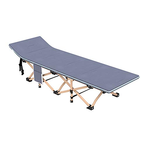 ZQS Folding Bed Chair Outdoor Camping Portable Single Folding Sheets People Nap Office Lunch Break Chair Mute Turn Multi-Function Camp Bed, 2 Styles Indoor and Outdoor can (Color : B)