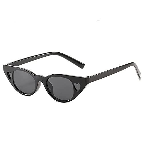 NIUBKLAS Gafas de sol redondasde ojo de gatoLoveliness Love DecoraciónGafas de sol Niño niña Unisex Retro UV4001-DJ6619-C1