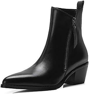 protección post-venta MENGLTX Sandalias Tacones Tacones Tacones Altos botas De Tobillo De Cuero Genuino De Las Mujeres Zapatos De Baile De Fiesta De Tacones Altos Mujer Bombas De Oficina botas Básicas  Seleccione de las marcas más nuevas como