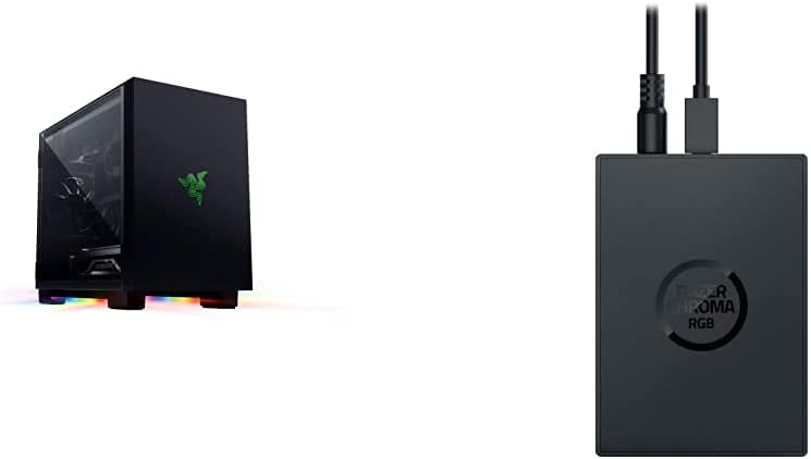 Razer Tomahawk Mini-ITX Gaming Chassis + Chroma Addressable RGB Controller Bundle