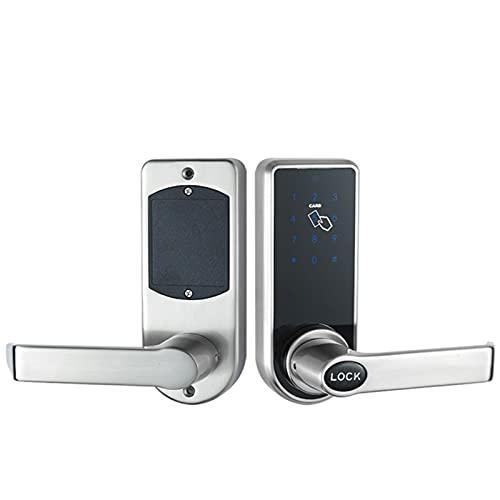 AHOMG Smart Door Lock, Keyless Entry, Electronic Keypad Deadbolt Lock, Front Door Smart Lock Works, Auto-Lock, for Home Apartment Hotel, Silver