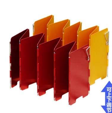 2 Kleuren 9 Platen Campingkachel Voorruit Kachel Voorruit Opklapbaar windscherm
