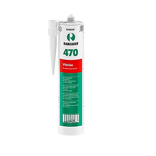 Ramsauer 470 Vitrine glasklar 1K Silikon Dichtstoff 310ml Kartusche