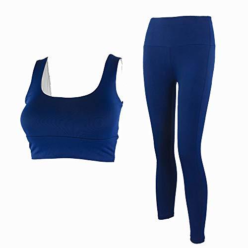 Liangda - Conjunto de ropa deportiva para mujer de yoga y yoga, 2 piezas