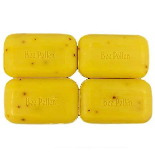 SoapWorks Bee Pollen Soap Bar, Bundle of 4, 110 Grams Each