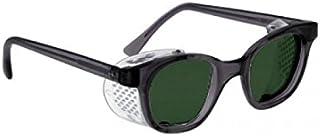 BoroView Shade # 5 لنز براون - عینک کار شیشه ای در قاب ایمنی پلاستیکی با Sheilds جانبی دائمی