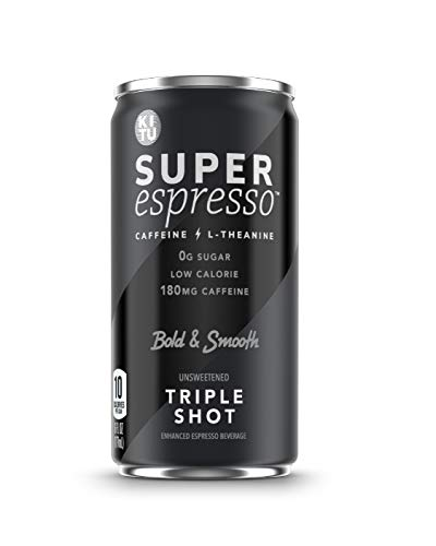 Kitu Super Espresso, SugarFree Keto Coffee Cans (0g Sugar, 5g Protein, 40 Calories) [Triple Shot] 6 Fl Oz, 12 Pack | Iced Coffee, Canned Coffee - From the Super Coffee Family