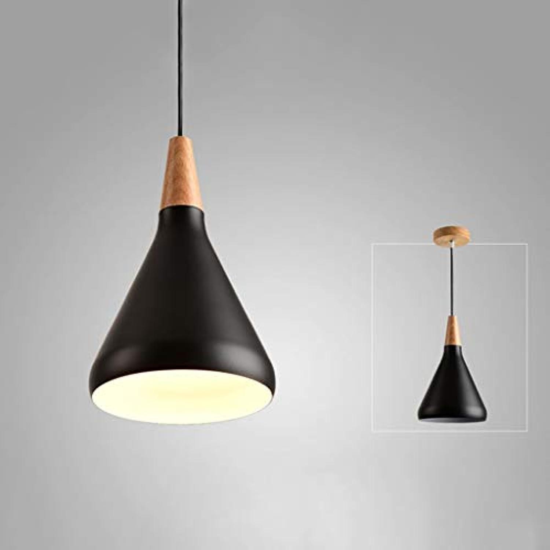 Nordic Massivholz Studie Schlafzimmer Licht Einfache Moderne Kreative Persnlichkeit Single Head Kronleuchter (Farbe  Schwarz)