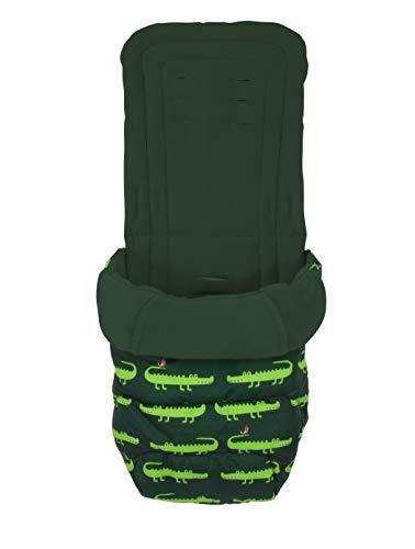 Cosatto Saco universal – Cosy Toes, para todas las estaciones, acolchado de lujo para cochecito, lavable, diseño de cocodrilo