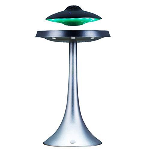 Altavoz Flotante levitante FHISD, platillo Volante antigravedad, Altavoz Bluetooth Flotante magnético, Carga inalámbrica, luz Nocturna cambiable de Siete Colores
