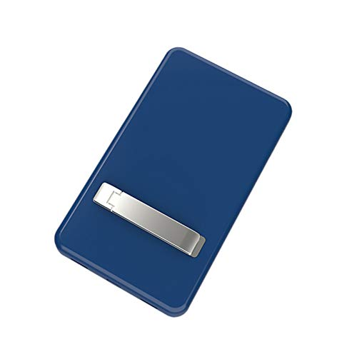 Mag-Safe Power Bank 5000Mah Ultra-Thin Wireless Charger for iPhone 12 Mini 12 Pro Max 15W Pd Qc Quick Charge External Battery,with Holder Portable Powerbank(Blue)