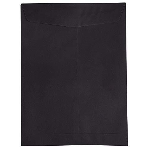 JAM PAPER 9 x 12 Open End Catalog Envelopes - Smooth Black - 100/Pack