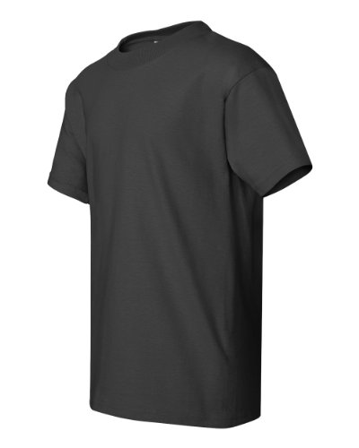 Hanes Youth 100% Cotton Heavyweight 6.1 oz Short Sleeve Tee in Smoke Gray - X-Large (18/20)