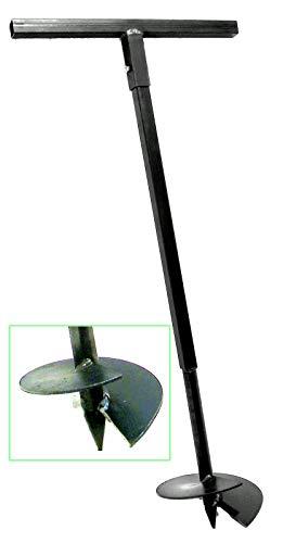 230 mm Erdbohrer Handerdbohrer Erdlochbohrer Pflanzbohrer Pfahlbohrer Lochspaten Erdlochausheber Pfostenbohrer