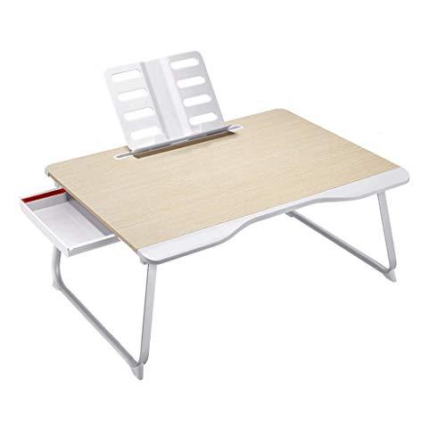 LF- Lit d'ordinateur Portable avec dortoir collégial sur Le Tableau de Table, Table Pliante Facile à Ranger (Color : Wood Color)