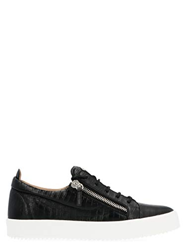 Giuseppe Zanotti Luxury Fashion Design Uomo RU70000197 Nero Pelle Sneakers | Primavera-Estate 20