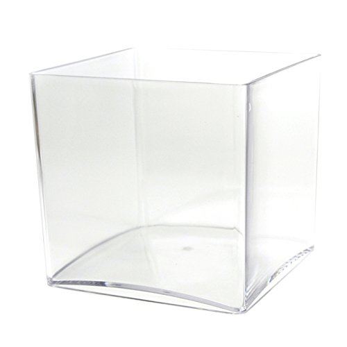 Firefly Imports Clear Acrylic Cube Vase Display, 6-inch x 6-inch