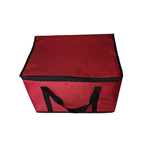 MFGGF 60L Super große Eindickung Oxford Kühltasche Eisbeutel Thermal Große Picknick-Lunch Box Fahrzeug Isolierung Lebensmittel Wein Träger Kühltasche (Color : Red)
