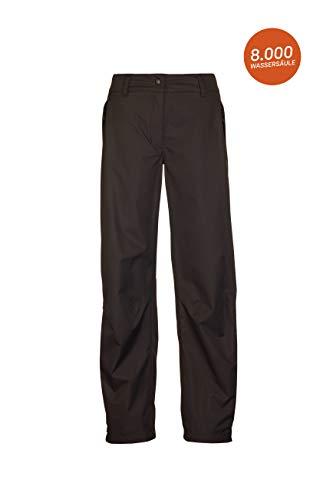 Killtec Damen Regenhose Asira, Überziehhose mit durchgehendem Reissverschluss, regenfeste Hose atmungsaktiv und winddicht, schwarz, 36