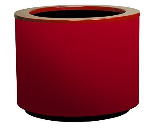 Hobby Flower Steel Plus -Hydrojardinière avec système d'auto-arrosage, 35 x 35 cm, Rouge