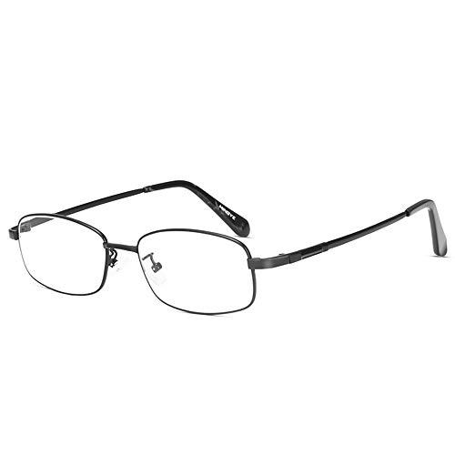 Gafas Multifocales Progresivas Que Leen Gafas De Presbicia Ópticas Multifocales De Alta Definición De Doble Uso De Lejos Y Cerca Masculinos,Negro,+3.00