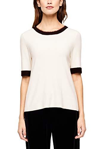 s.Oliver BLACK LABEL Damen 11.911.62.3228 Pullover, Elfenbein (Cream White 0220), (Herstellergröße: 38)