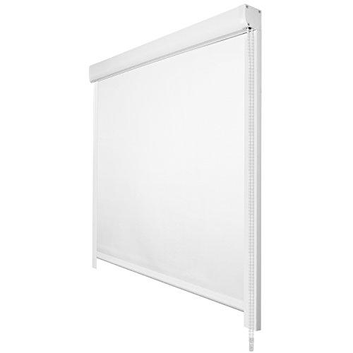 Sol Royal Tenda a Rullo Oscurante SolReflect K24 - Tenda Termica e Isolante con Guide Laterali 90x175 Bianco Installazione Senza perforare pareti