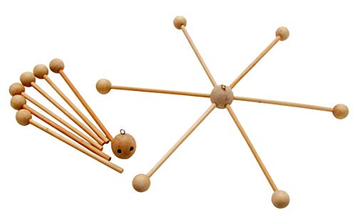 Mobile en bois, mobile en forme d'étoile en bois de 30 cm à créer soi-même, croix, berceau