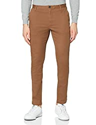 Made from durable cotton and elastane blend for comfort and stretch Slim fit An Amazon brand