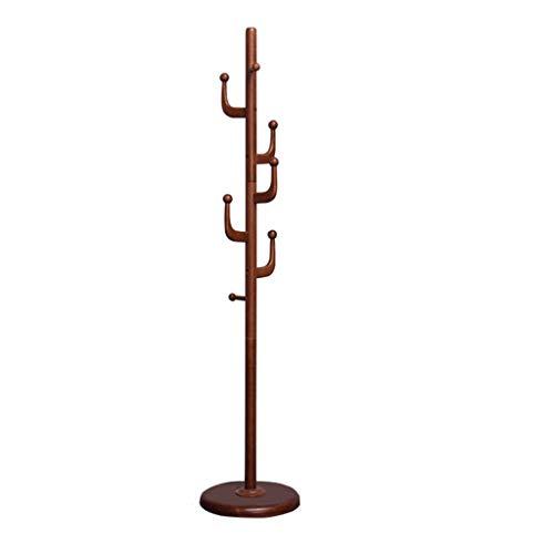 MKVRS Perchero de madera maciza, con 7 ganchos, para el pasillo de entrada, para ropa, sombreros, bolsos, abrigos (color: B)