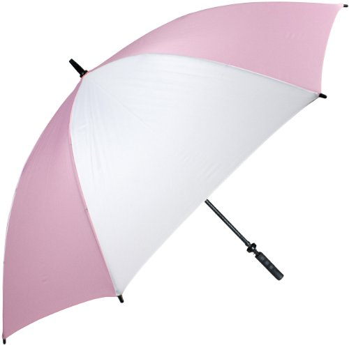 Haas-Jordan Pro-Line Umbrella, Pink/White with Ribbon by Haas-Jordan