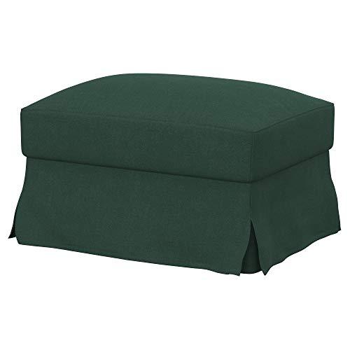 Soferia Funda de Repuesto para IKEA FARLOV reposapiés, Tela Elegance Mineral, Verde