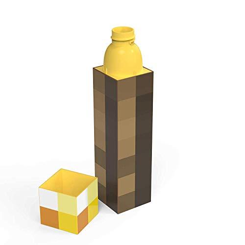 Zak Designs Minecraft Taschenlampe Old School Gaming Wasserflasche – 625 ml – BPA-frei