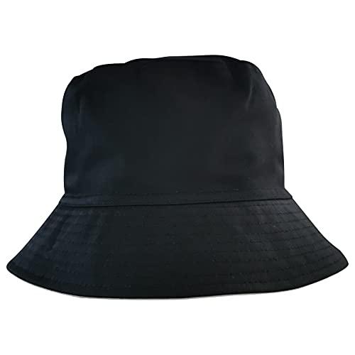 XINCHENYU Cappello da sole estivo pieghevole a tesa larga in cotone da donna f-nero Taglia unica