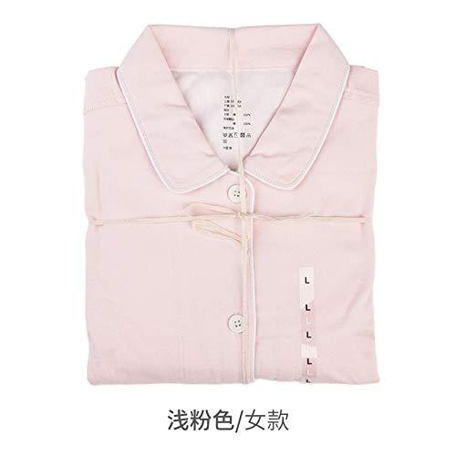 KGWSWE Pijama de brida sin estampado para el hogar, ideal para otoño e invierno, de algodón, aterciopelado, para parejas, color gris y rojo, modelo femenino, talla: XL)