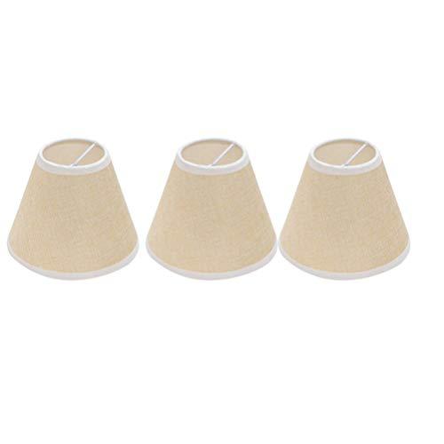 Uonlytech Pantalla de La Lámpara Tela de Lino Cubierta de La Lámpara para Candelabros Luces Mesa Piso Lámparas de Pared Lámpara de Techo Reemplazo