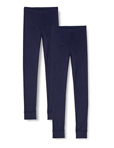 Marca Amazon - IRIS & LILLY Leggins Interiores Mujer, Pack de 2, Azul (Navy), S, Label: S