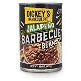 Dickey's Jalapeno Barbecue Beans, 16 Oz Can, Canned Beans, Baked Beans, Canned Food, Canned Vegetable