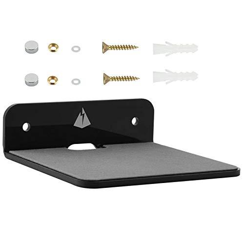 Gesh Vägghylla högtalarstativ, liten vägghylla högtalarmontering för högtalare, mobiltelefoner, leksak visningshylla (svart)