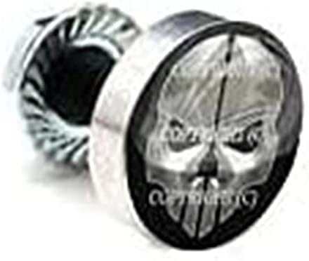 Great interest 9 Nippon regular agency Pcs Billet Fairing Windshield Bolt SILVER METAL SKULL For -