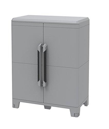 Terry, Transforming Modular 2, Armario Multifunción 2 Puertas, Material: Plástico, Dimensiones: 78x43.6x101.6 cm, Gris/negro