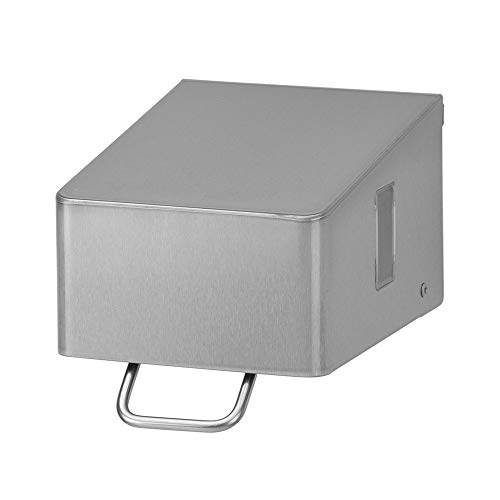 OPHARDT Hygiene 1417160 SanTRAL NSU 7 E AFP Flüssigseifenspender, 700 ml, Edelstahl gebürstet