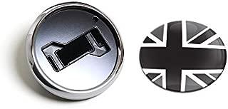 GoBadges CKC024 Flag UK Blackjack - Magnetic Chrome Grill Badge Holder Combo/Universal Fit/No Tools Required/Weather-Proof and Car-Wash Safe
