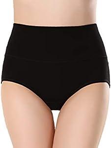 Calzoncillos de cintura alta para mujer, cómodos, ropa interior de algodón, sexy, ultrafinos