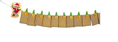 Unser Sandmännchen Adventskalender Dieses Mal hat das Sandmännchen gleich 24 Säckchen dabei, denn die können mit hübschen Advents-Überraschungen gefüllt werden! Geschlossen werden die Säckchen mit kleinen, nummerierten Klämmerchen. Adventskalender zum selber befüllen mit Sandmann Sandmännchen